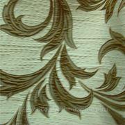 Ткань портьерная Бежево-коричневый узор