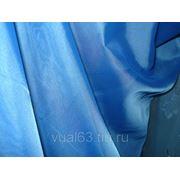 Ткань Вуаль синяя фото