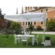 Зонт Afrodite 2х2, бокова опора, алюминиевая рама-белый