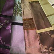 Ткань портьерная с фактурными полосами фото