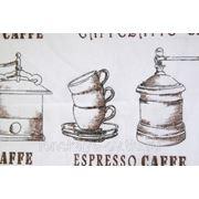 Тюль Dolce Lino Espresso B 15. Льняной тюль фото