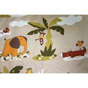 Портьерная ткань для штор Mediterraneo Selva A 03. Сатин фото