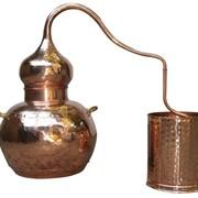 Аламбик на 2 литра, без колонны, ручная ковка и клёпка фото