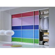 Шкаф-купе с цветной тонировкой. фото