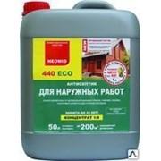 Антисептиктрудновымываемый для защиты древесиныNEOMID 440/1л конц-т 1:9 фото