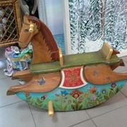 Лошадка - качалка, детская, авторская работа фото