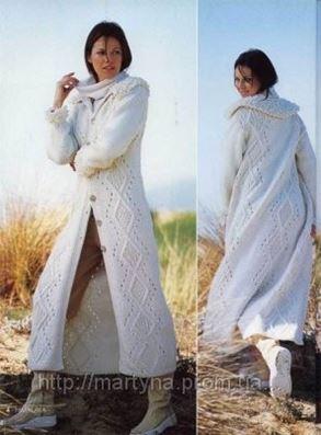 вязаное пальто с капюшоном в киеве вязание ателье мартина на