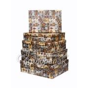 Коробка картонная цветная ККЦ №3 (5шт) прямоуг(45/35/14см-37/25/5см) фото