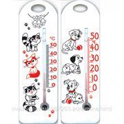 Термометр комнатный детский П-15 Далматинцы/Коты фото