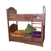 Кровать двухъярусная из натурального дерева фото