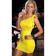Короткое желтое платье фото