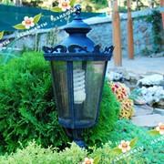 Установка светильников для освещения участка. Организация паркового освещения. фото