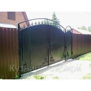 Ворота из профнастила в Омске фото