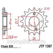 запчасти мото JT звезда передняя (ведущая) для мотоцикла, стальная фото