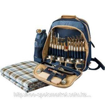Рюкзак для пикника 4 персоны с кружками сунула зайца в рюкзак
