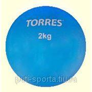 Мяч для пилатеса 2 кг , TORRES PVC наполнитель речной песок, д-14 см, голубой фото