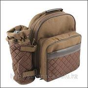 Набор для пикника на 2 персоны в коричневом рюкзаке-холодильнике фото