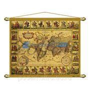 Панно (репродукция старинной карты) фото