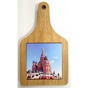 Сувенирная доска о Москве с плиткой фото