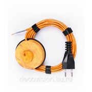 Электрический шнур Decovision, 2х0,75мм2, 3 м., выключатель, дизайн Pin (Сосна) фото