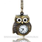 Бронзовые часы в виде совы фото