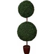 Искусственный самшит шар на стволе, d 30 см и 40 см фото