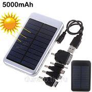 Универсальный солнечный накопитель аккумулятор на 5000mAH фото