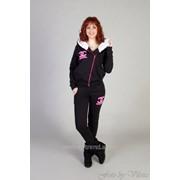 505e7b988ec Теплый спортивный женский костюм двойка Шанель 42 Персиковый фото