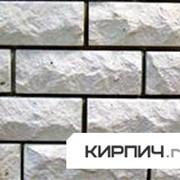 Силикатный облицовочный кирпич полнотелый полуторный белый рустированный угол КЗСК фото