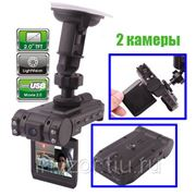 Видеорегистратор две камеры x1000 фото