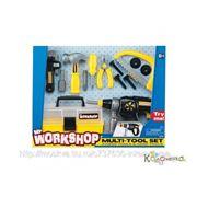 Мастерские, строительные инструменты Keenway Набор инструментов (электрошуруповерт, ящик для инструментов, плоскогубцы, винты, отвертка, ножевка, фото