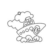 Витраж-мини Кораблик фото