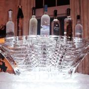 Ледовое украшение праздничного стола фото