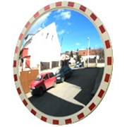 Обзорное зеркало уличное с окантовкой, D-1000 мм фото