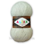 Пряжа для вязания Лана голд файн 62 св молочный фото