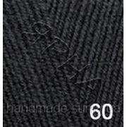 Пряжа для вязания Лана голд файн 60 черный фото
