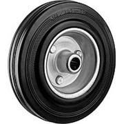 Колесо d=125мм, г/п 100кг, резина/металл, игольчатый подшипник, ЗУБР фото