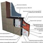 Монтаж каркасов для навесных утеплительных систем фото