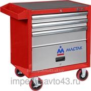 Тележка инструментальная, 3 ящика и отсек, красная МАСТАК 522-03581R фото