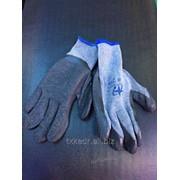Перчатки рабочие ХБ с латексным покрытием, 1018 фото
