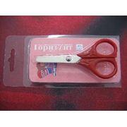 Ножницы школьные пластмассовые ручки 100мм фото
