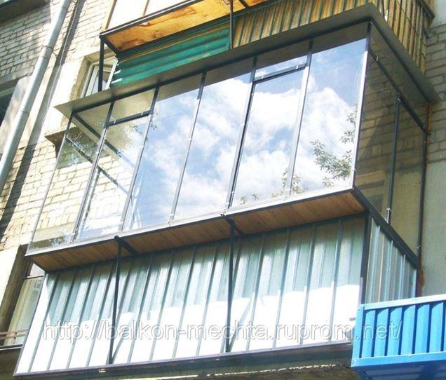 Металлические балконные рамы в Челябинске..товары и услуги к.