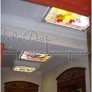 Декор потолка, фьюзинг (плавленное стекло) фото