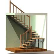 Лестница на металлокаркасе модель Крокодил фото
