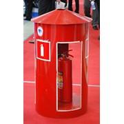 Шкафы для огнетушителей, подставки для огнетушителя фото