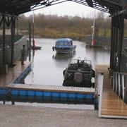 Изготовление и монтаж причалов и парковок для яхт, катеров и скутеров. фото