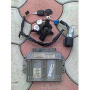 Комплект: ЭБУ двигателя, замок зажигания, ключ зажигания, личинки замков двер для Пежо 206 2004 г.в. фото