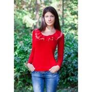 Блуза 1598 Красный цвет фото