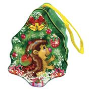 Упаковка новогодняя жестяная Ежик и елка фото