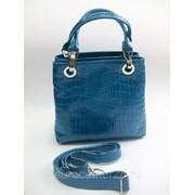 Бирюзовая жнская кожаная сумочка